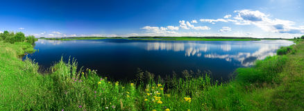 Beautiful summer water landscape Stock Images