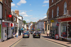 Beautiful summer  weather in busy market town of Ross-on-Wye Royalty Free Stock Photos