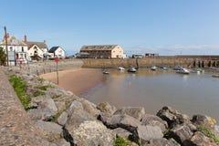 Beautiful summer weather Minehead harbour Somerset England UK. MINEHEAD, SOMERSET, ENGLAND-JULY  9TH  2015: Beautiful summer weather made for calm sailing Stock Image