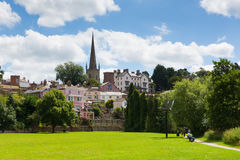 Beautiful summer  weather was enjoyed by visitors to the park in Ross-on-Wye, England Royalty Free Stock Photo