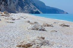 White Egremni beach (Lefkada, Greece) Royalty Free Stock Photography