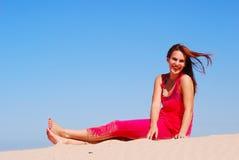 Beautiful beach girl Stock Photos
