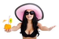 Beautiful summer woman Stock Image