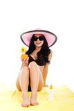 Beautiful summer woman Stock Photos