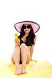 Beautiful summer woman Stock Photos