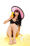 Beautiful summer woman Stock Image