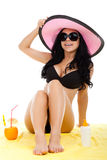 Beautiful summer woman Royalty Free Stock Images