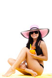 Beautiful summer woman Stock Images