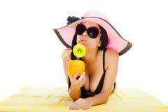 Beautiful summer woman Stock Photography
