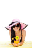 Beautiful summer woman Royalty Free Stock Photography