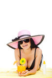 Beautiful summer woman Royalty Free Stock Photo