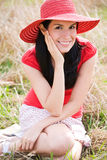 Beautiful summer woman outdoor Royalty Free Stock Photography