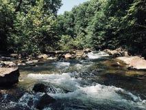 Summer Creek - Waterfalls and Rapids. Beautiful summertime creek Stock Image