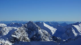 Beautiful summits of the mountains in the Alps Royalty Free Stock Photography