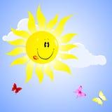Beautiful sun. Royalty Free Stock Images