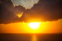 Beautiful sun over ocean Stock Images