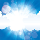 Beautiful sun ray in the clouds with blue sky Royalty Free Stock Photography