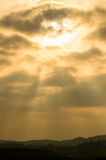 Beautiful sun ray Stock Images