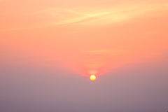 Beautiful sun rise with pastel color sky Stock Images