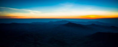 Beautiful sun rise. On top of the mountain Royalty Free Stock Image