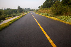 Beautiful Sun Rising Sky With Asphalt Highways Road Stock Images
