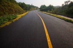Beautiful Sun Rising Sky With Asphalt Highways Road Royalty Free Stock Image