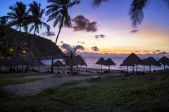 beautiful sun rising sky at koh tao island most popular traveling destination in southern of thailand stock photo