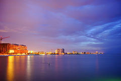 Beautiful sun set at clearwater beach Royalty Free Stock Images