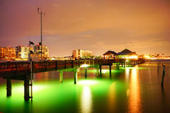 Beautiful sun set at clearwater beach Royalty Free Stock Photo