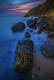Beautiful sun set sky at sea beach Royalty Free Stock Image