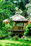 Beautiful sun shade cottage in the forest.  Royalty Free Stock Images