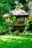 Beautiful sun shade cottage in the forest.  Royalty Free Stock Photography
