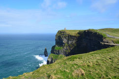 Beautiful Sun Shining on the Cliff`s of Moher in Ireland Royalty Free Stock Images