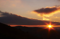 Beautiful sun on the sunrise Royalty Free Stock Images