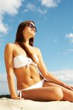Beautiful sunbather Stock Images