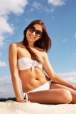 Beautiful sunbather Stock Image