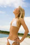 Beautiful sunbather Royalty Free Stock Images