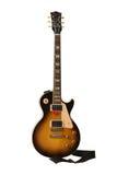 Beautiful sunburst electric guitar stock photos