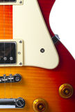 Beautiful sunburst electric guitar close up Stock Photo