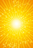 Beautiful sunburst heat wave background with lens. A4 Format Stock Images
