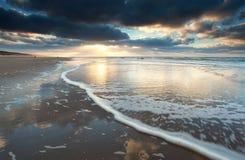 Beautiful sundown on North sea coast Royalty Free Stock Image