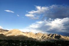 Beautiful sunlit Barren mountain of Ladakh Stock Photo