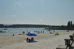 Beautiful Sunny Beach In The Grove. royalty free stock photography