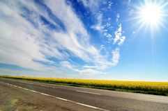 Beautiful sunny day royalty free stock photography