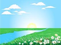 Beautiful sunny day stock illustration