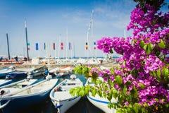 Beautiful sunny day in Bardolino near lake Garda royalty free stock photography