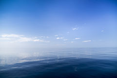Beautiful sunny day with blue sky over the sea. Stock Images