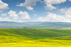 Beautiful sunny day, colorful landscape Stock Image