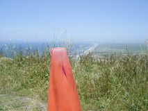 Cone on Maui Road Royalty Free Stock Image