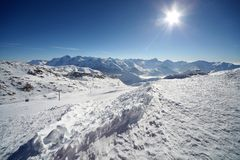 Beautiful sunny day in french alps Royalty Free Stock Photo
